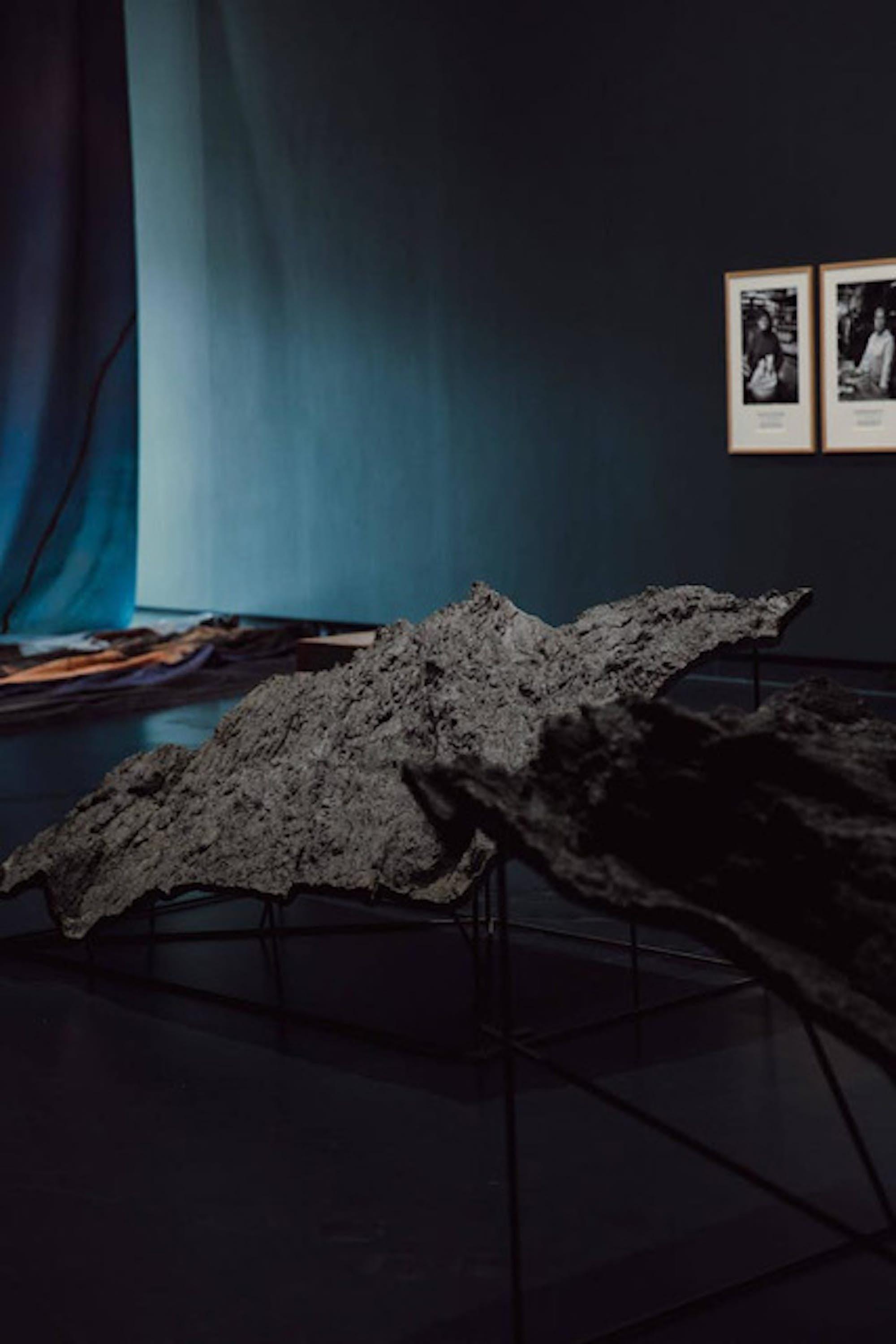 """Stijn COLE, """"Cancale #2"""", """"Cancale #3"""", 2017. Exposition La Colère de Ludd, BPS22, 2020. Photo : Leslie Artamonow"""