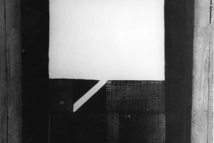 Gabriel BELGEONNE Paysage par la fenetre sans date