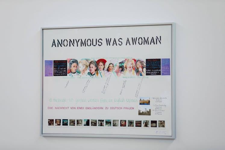 Web Margaret HARRISON Anonymous Was a Woman 1977 1991 Exposition La Colère de Ludd BPS22 2020 Photo Leslie Artamonow jpg