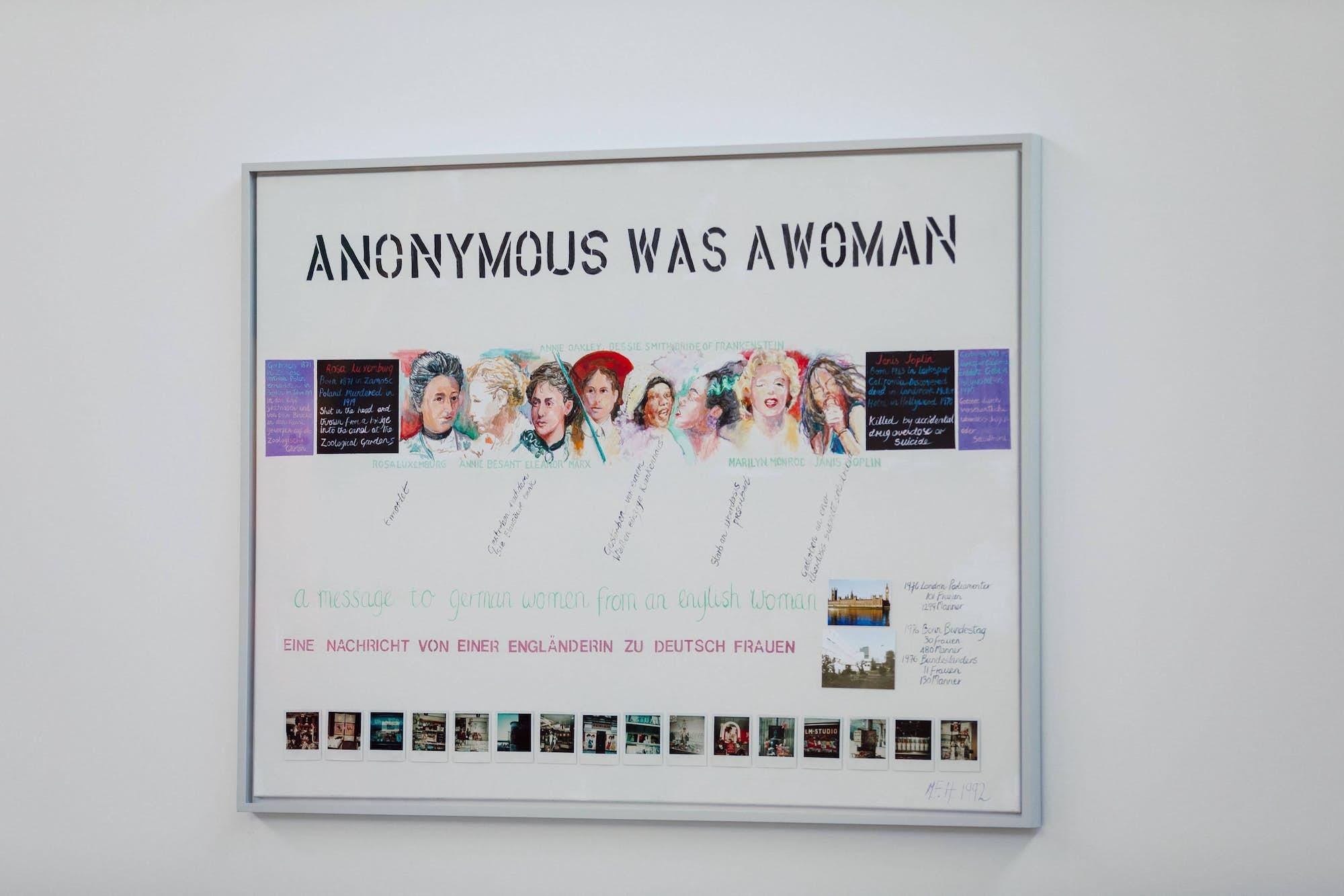 Web Margaret HARRISON Anonymous Was a Woman 1977 1991 Exposition La Colère de Ludd BPS22 2020 Photo Leslie Artamonow jpg