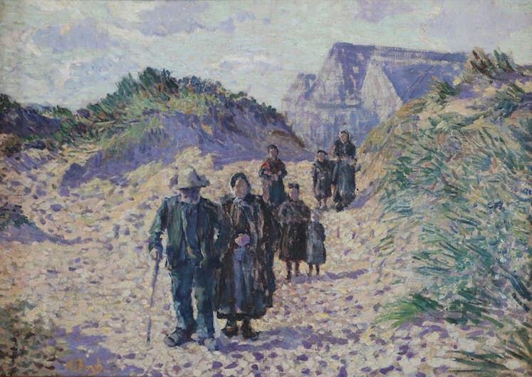 Anna Boch, Retour de la messe par les dunes