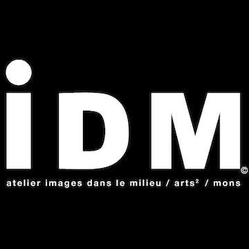 IDM LOGO NB NEGATIFTEXTE imagesdanslemilieu Carré