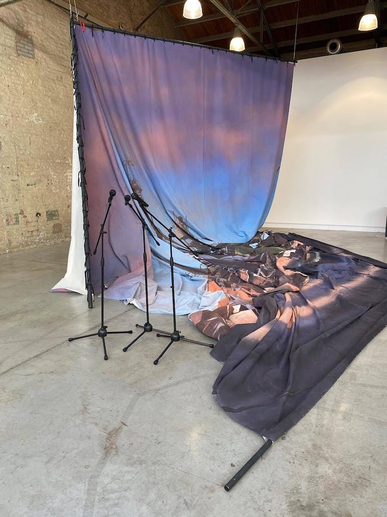 Latifa Echakhch The sun and the set vue de lexposition 2020 BPS22 Photo Latifa Echakhch