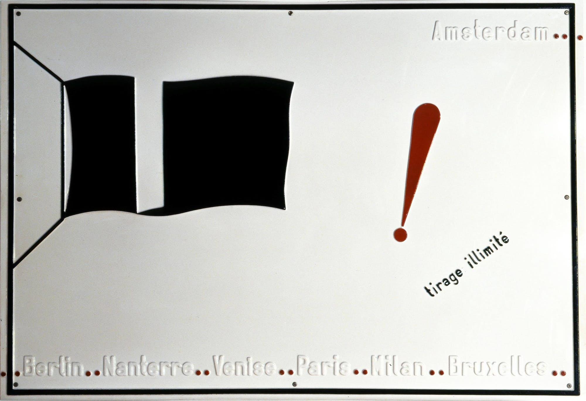 Marcel BROODTHAERS Drapeau noir 2 light