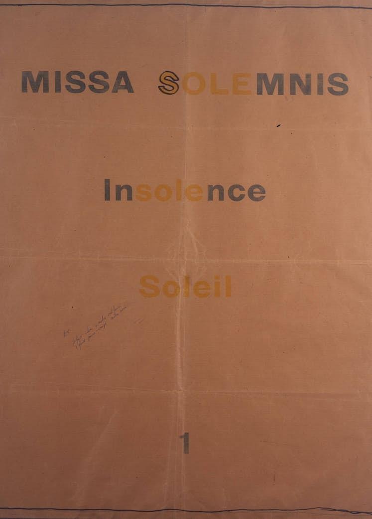 Marcel BROODTHAERS Missa Solemnis