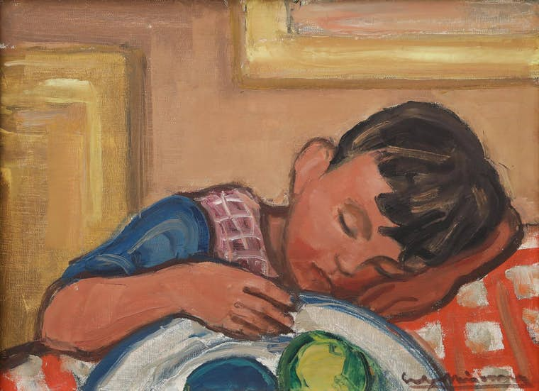 Eudore Misonne Enfant endormi A Donald Van Cardwelllight