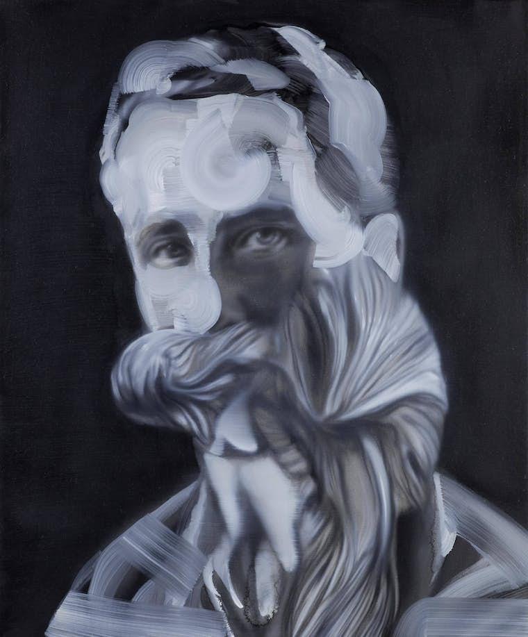 Wanderlus dtail Richard Byrd 201050x60cm Oil on canvaslight