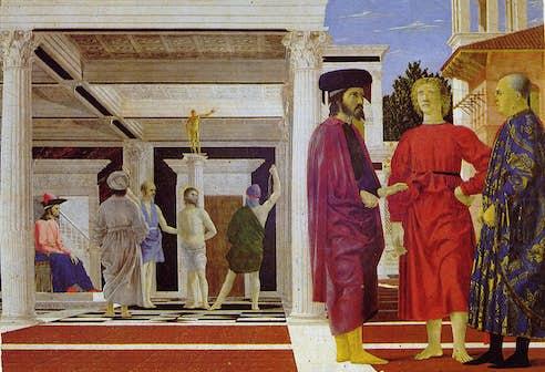 La flagellation du Christ piero della francesca pierre michon