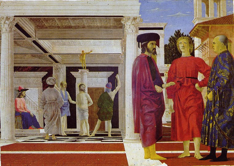 La flagellation du Christ piero della francesca pierre michon